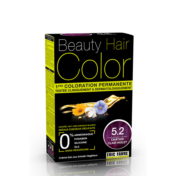BEAUTY HAIR COLOR vopsea de păr 5.2 Șaten violet