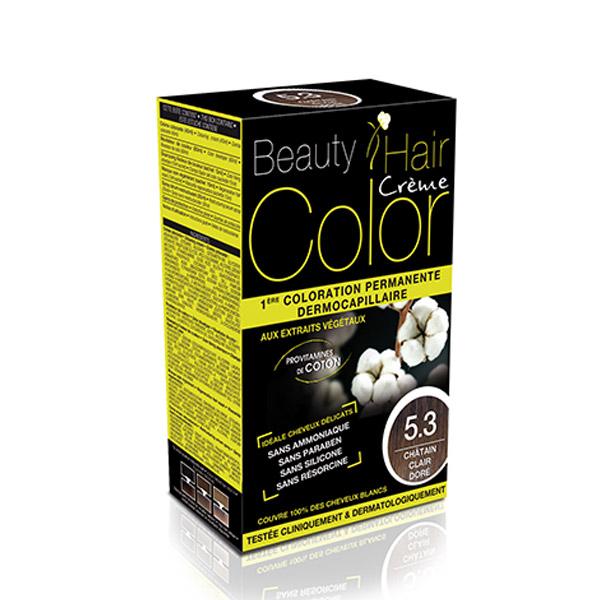 BEAUTY HAIR COLOR vopsea de păr 5.3 Șaten deschis auriu