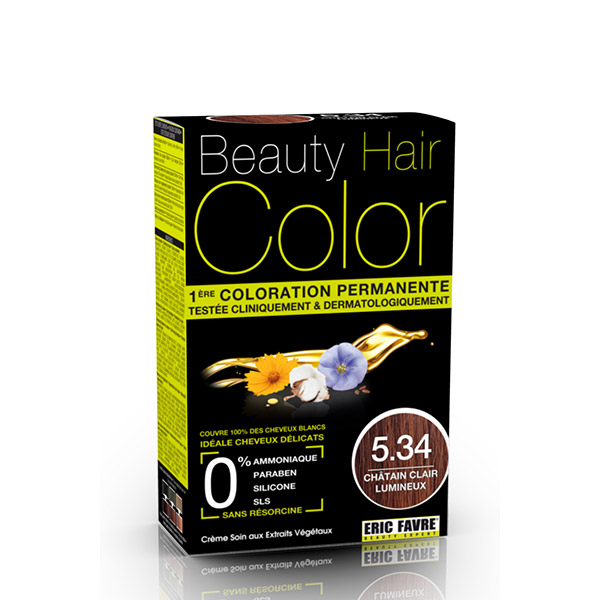 BEAUTY HAIR COLOR vopsea de păr 5.34 Șaten deschis luminos