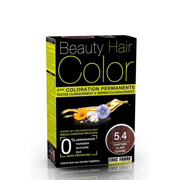 BEAUTY HAIR COLOR vopsea de păr 5.4 Șaten roșcat deschis