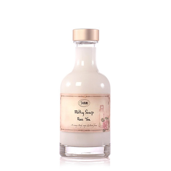 SABON Lapte de baie Rose Tea 200ml
