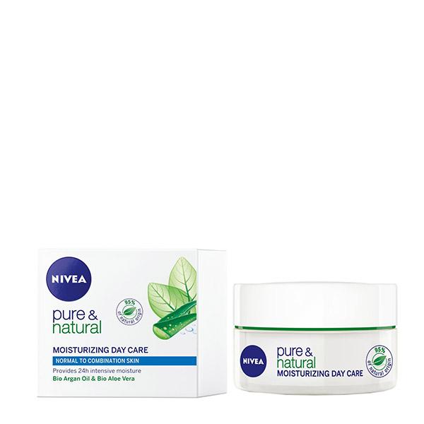 Nivea Pure&Natural Cremă hidratantă de zi pentru ten normal 50ml