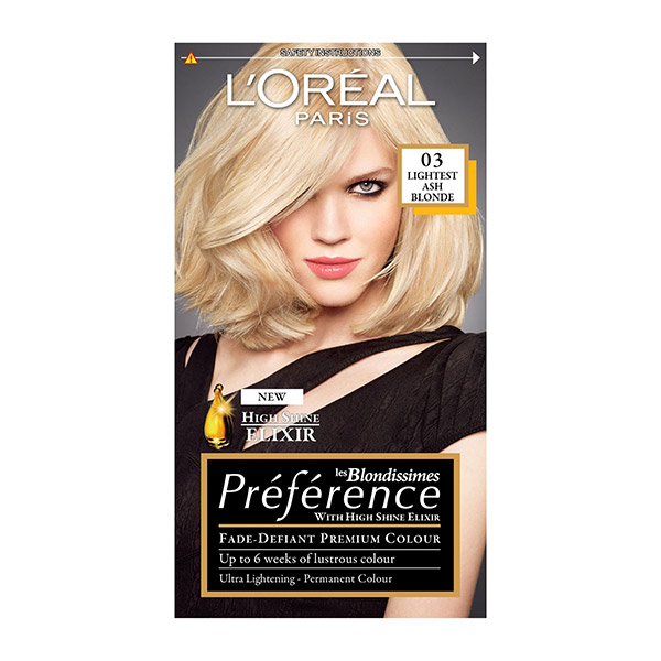 Loreal Paris Preference Vopsea De Par 03 Ash Blond Ultra Deschis