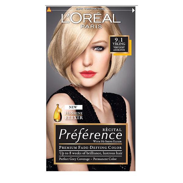 L'Oreal Paris Preference Vopsea de par 9.1 Z Viking Blond foarte deschis cenusiu