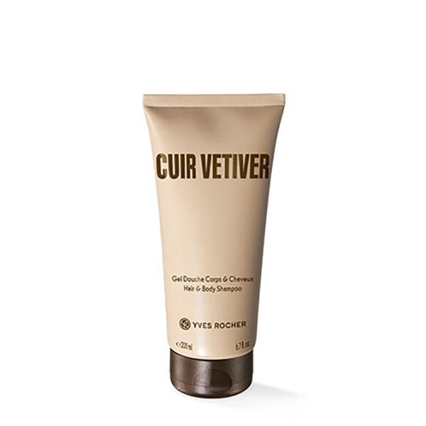 YVES ROCHER Cuir Vetiver Gel de duș pentru corp și păr 200ml