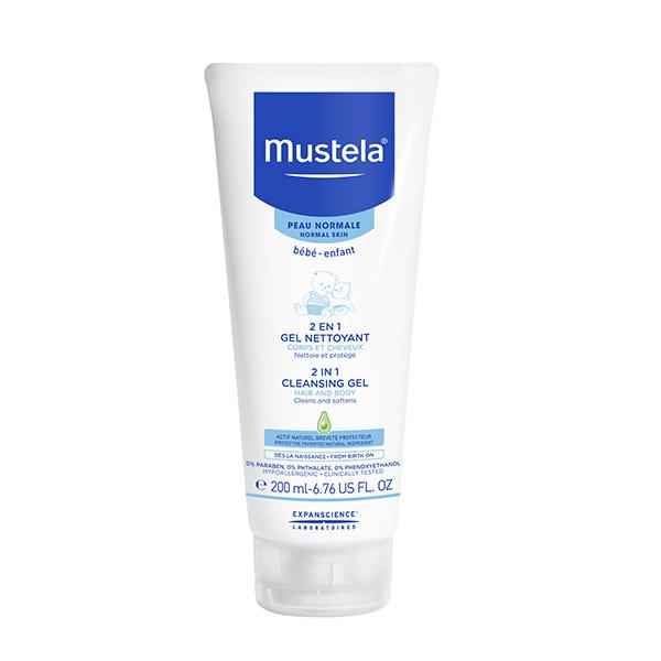 Mustela 2în1 Gel curățător pentru păr și corp 200ml