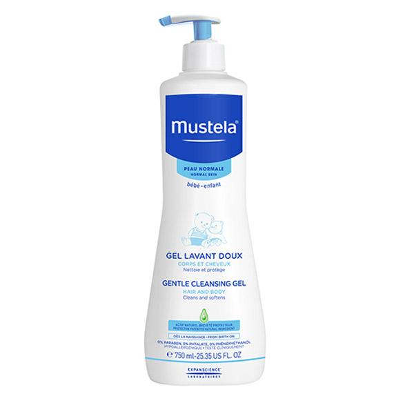 Mustela Gel curățător pentru păr și corp 750ml