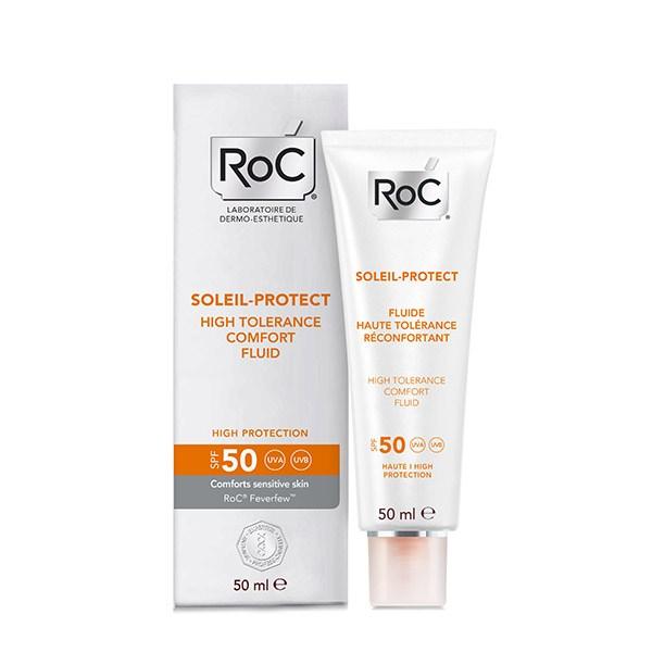 Roc SOLEIL PROTECT Fluid confort piele sensibila SPF50+ 50ml