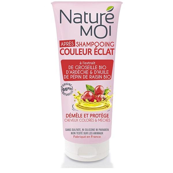 NatureMoi Balsam pentru păr vopsit cu extract bio de coacăze de Ardeche și ulei din sâmburi de struguri 200 ml