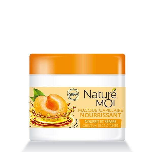 NatureMoi Mască nutritivă pentru păr uscat și deteriorat cu extract bio de caise și ulei de Argan 300ml