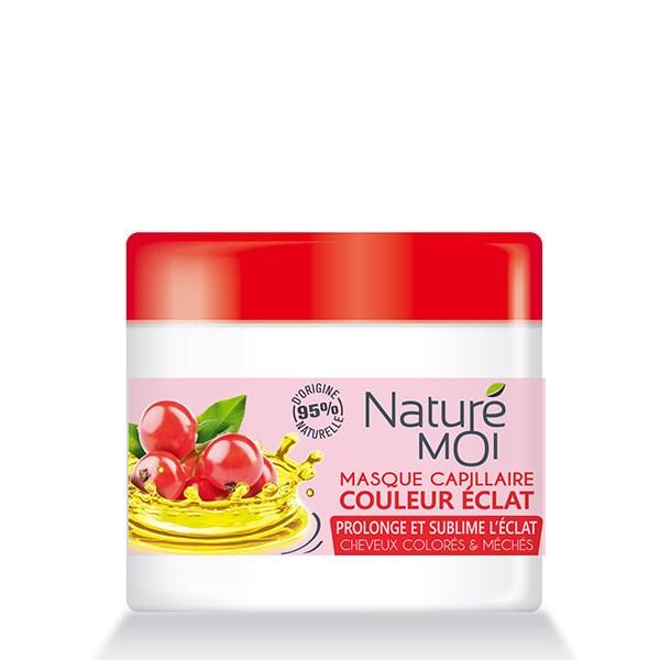 NatureMoi Mască nutritivă pentru protecția părului vopsit cu extract bio de coacăze și ulei din sâmburi de struguri 300ml