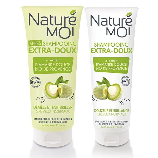 NatureMoi Set Șampon și Balsam pentru păr normal cu extract bio de Migdale verzi de Provence