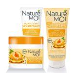 NatureMoi Set Șampon, Balsam și Mască pentru păr uscat cu extract de caise și ulei de argan