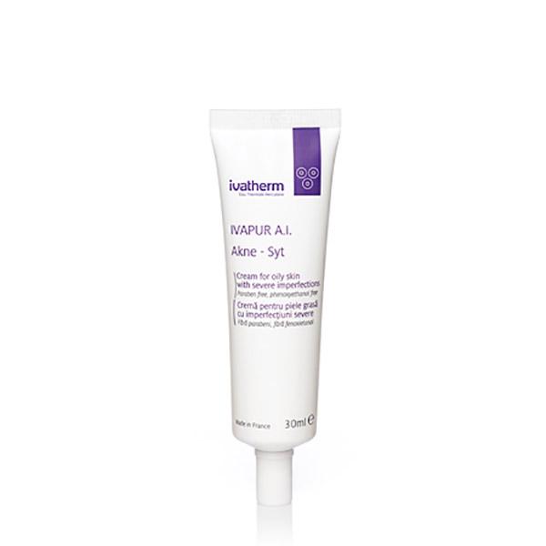 Ivatherm IVAPUR A.I. Akne-Syt Crema pentru piele grasa cu imperfectiuni 30 ml