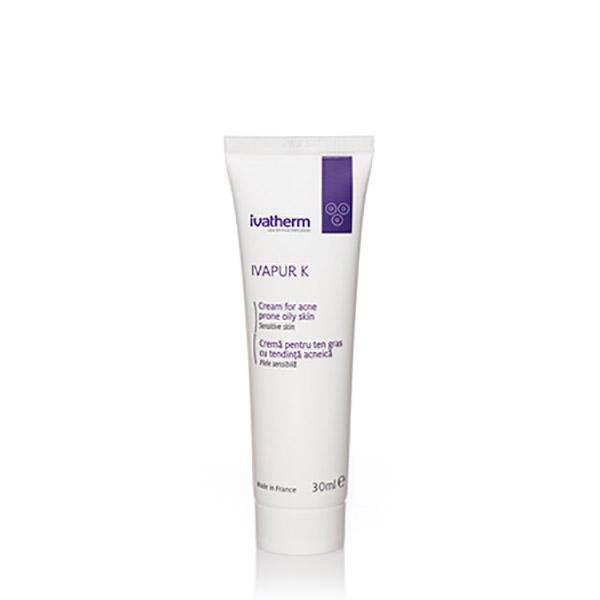 Ivatherm IVAPUR K Crema pentru ten gras cu tendinta acneica 30 ml