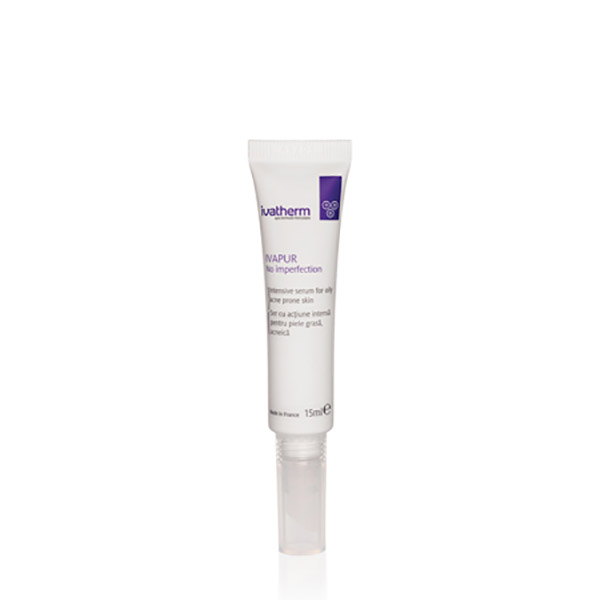 Ivatherm IVAPUR No Imperfection Ser cu actiune intensa pentru piele grasa, acneica 15 ml