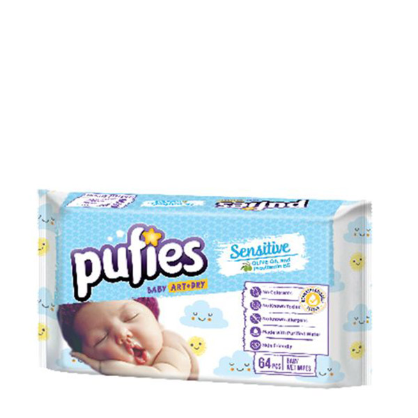 Pufies Servetele umede sensitive 64buc