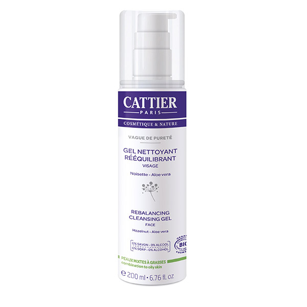 Cattier Vague de Purete Gel de curatare reechilibrant pentru ten gras sau mixt 200 ml