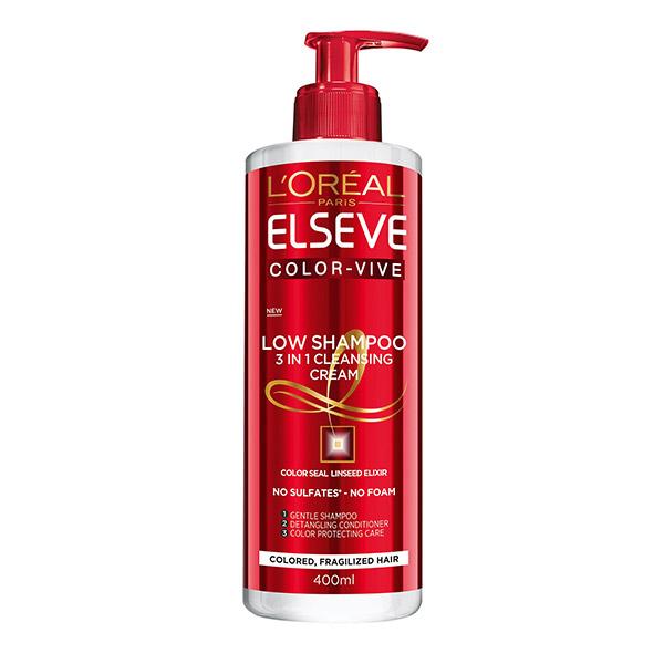 L'Oreal Paris Elseve Low Shampoo Color Vive Sampon ingrijire experta pentru par colorat 400ml