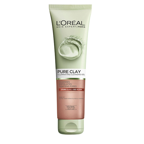 L'Oreal Paris Pure Clay Gel de curatare exfoliant pentru fata 150 ml
