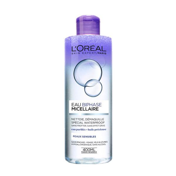 L'Oreal Paris Skin Expert Apa micelara bifazica waterproof pentru ten sensibil 400ml