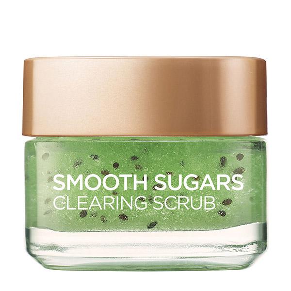 L'Oreal Paris Smooth Sugars Scrub exfoliant cu zahar pentru ten cu puncte negre 50 ml