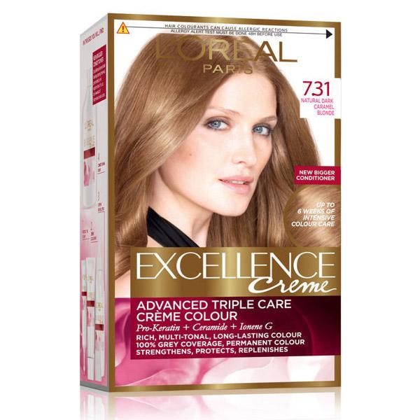 L'Oreal Paris Excellence Creme Vopsea de par 7.31 Blond Caramel