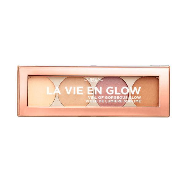 L'Oreal Paris La Vie En Glow Paleta iluminatoare 01 Warm Glow 5g