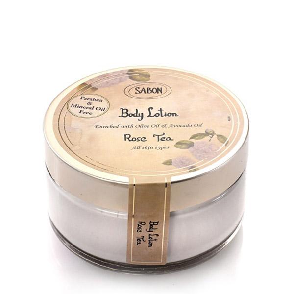 SABON Cremă de corp - Borcan Rose Tea 200ml