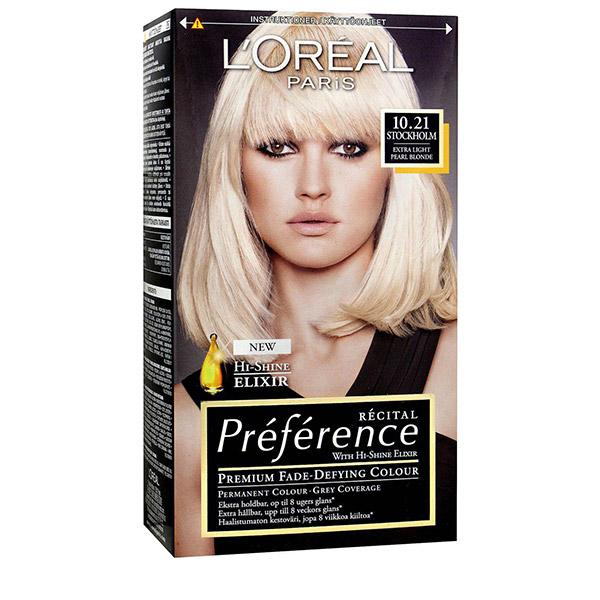 L'Oreal Paris Preference Vopsea de par 10.21 Z2 Stockholm Blond foarte deschis perlat