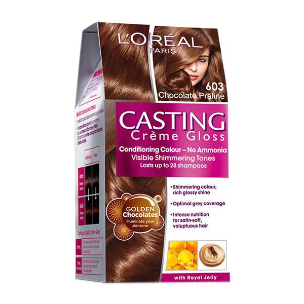 L'Oreal Paris Vopsea de par Casting Crème Gloss 603 Choco Macaroon